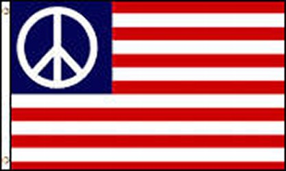 Red, White,& Blue Peace Flag